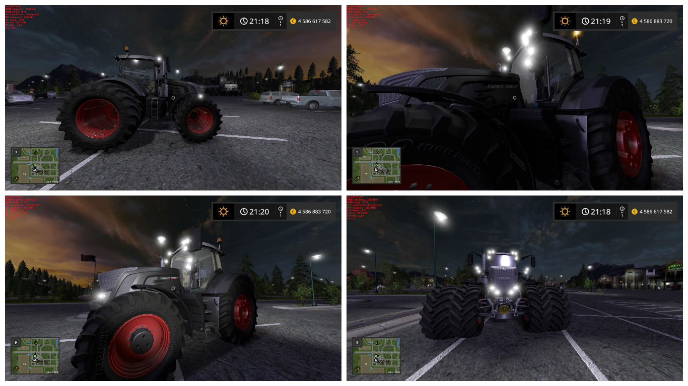 Мод FS17 FENDT 900 BLACK BEAUTY V1.0 Farming Simulator 17