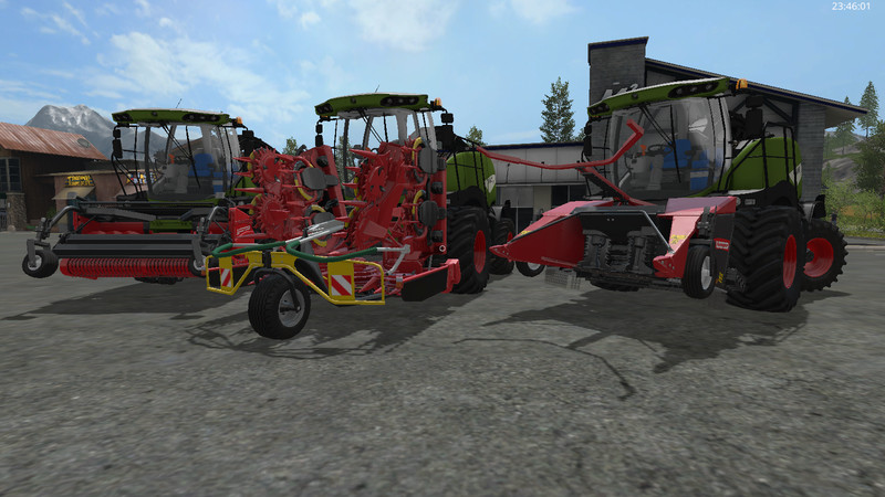 Мод комбайн FS17 Fendt Katana Pack V 1 Farming Simulator 2017