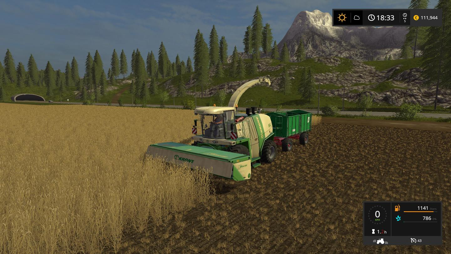 Мод прицеп FS17 MEGA TRAILER V1.0.5.3 Farming Simulator 17