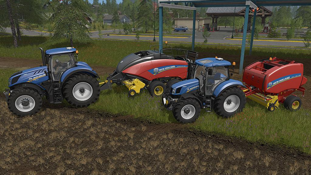 Мод тюкопрессы FS17 NEW HOLLAND BALER PACK V1.0 Farming Simulator 17