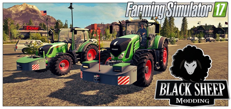 Мод противовесы FS17 Pack 2 Front weight AGRI-WELD with Fuel V 1.0.0 Farming Simulator 2017
