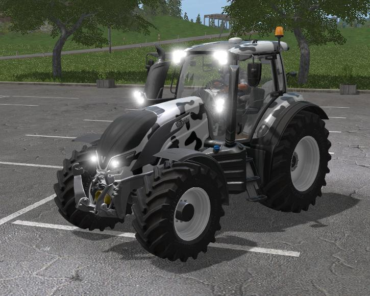 Мод трактор FS17 VALTRA T SERIES COW EDITION V1 Farming Simulator 17