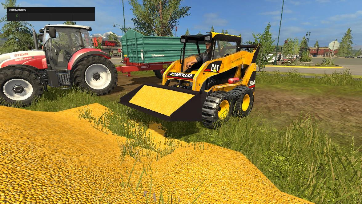Мод погрузчик Caterpillar 262B v1.0 Farming Simulator 17