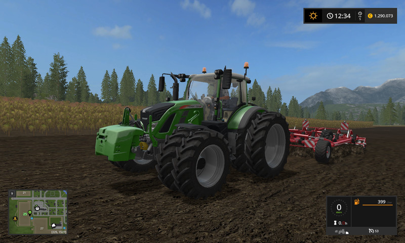 Мод Fendt 700 v 1.3 Fixed Farming Simulator 2017