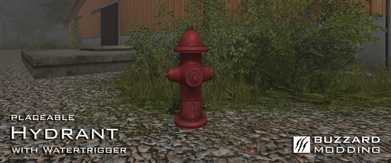 Мод Hydrant with Watertrigger v 1.0 Farming Simulator 17