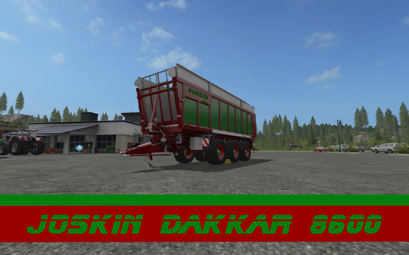 Мод прицеп Joskin Dakkar red-green edition V 1.0 Farming Simulator 2017