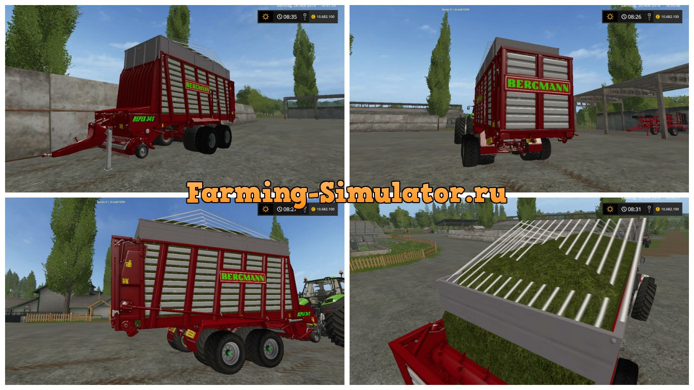 Мод прицеп Repex 34S v 1.0 Farming Simulator 2017
