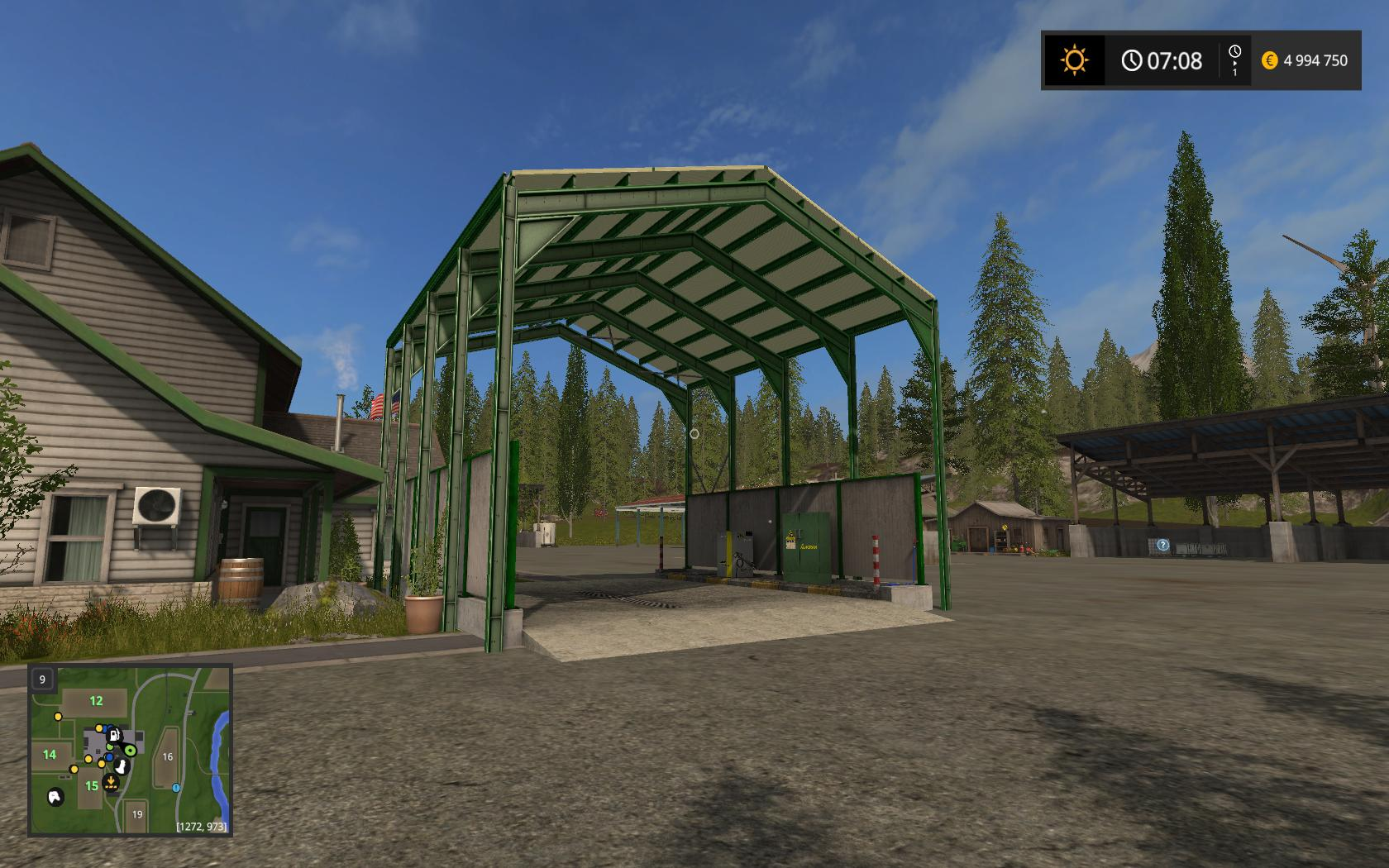 Мод Station de lavage v 1.0 Farming Simulator 2017