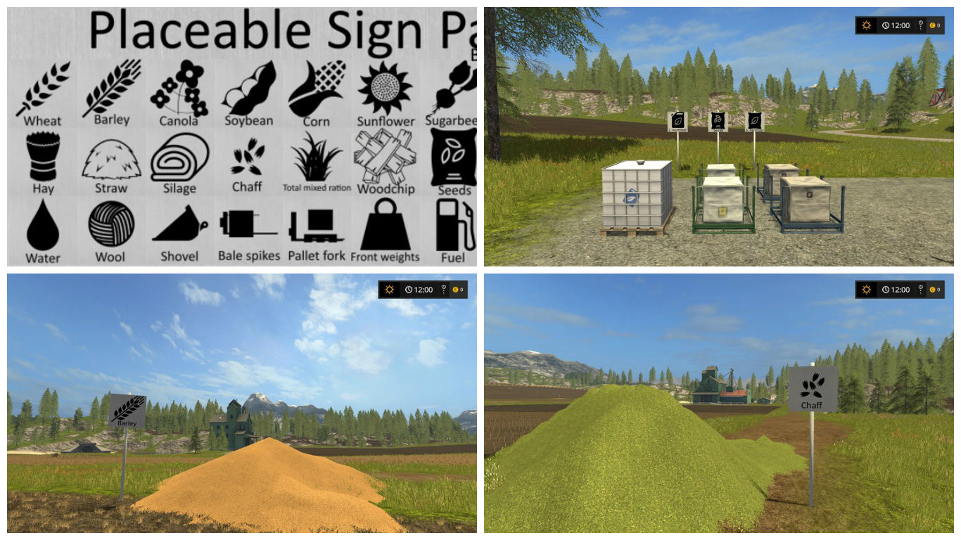 Мод Sign-Pack V 1.4 Farming Simulator 17