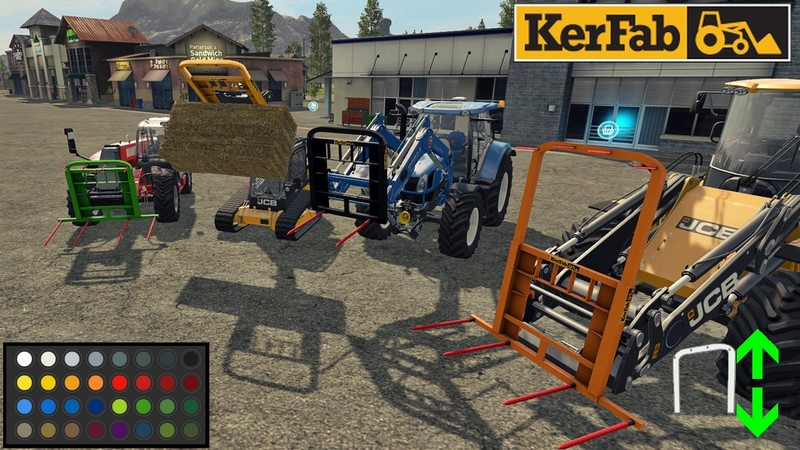 Мод Spike Kerfab With BaleAttacher and All Loader v 1.0 Farming Simulator 2017