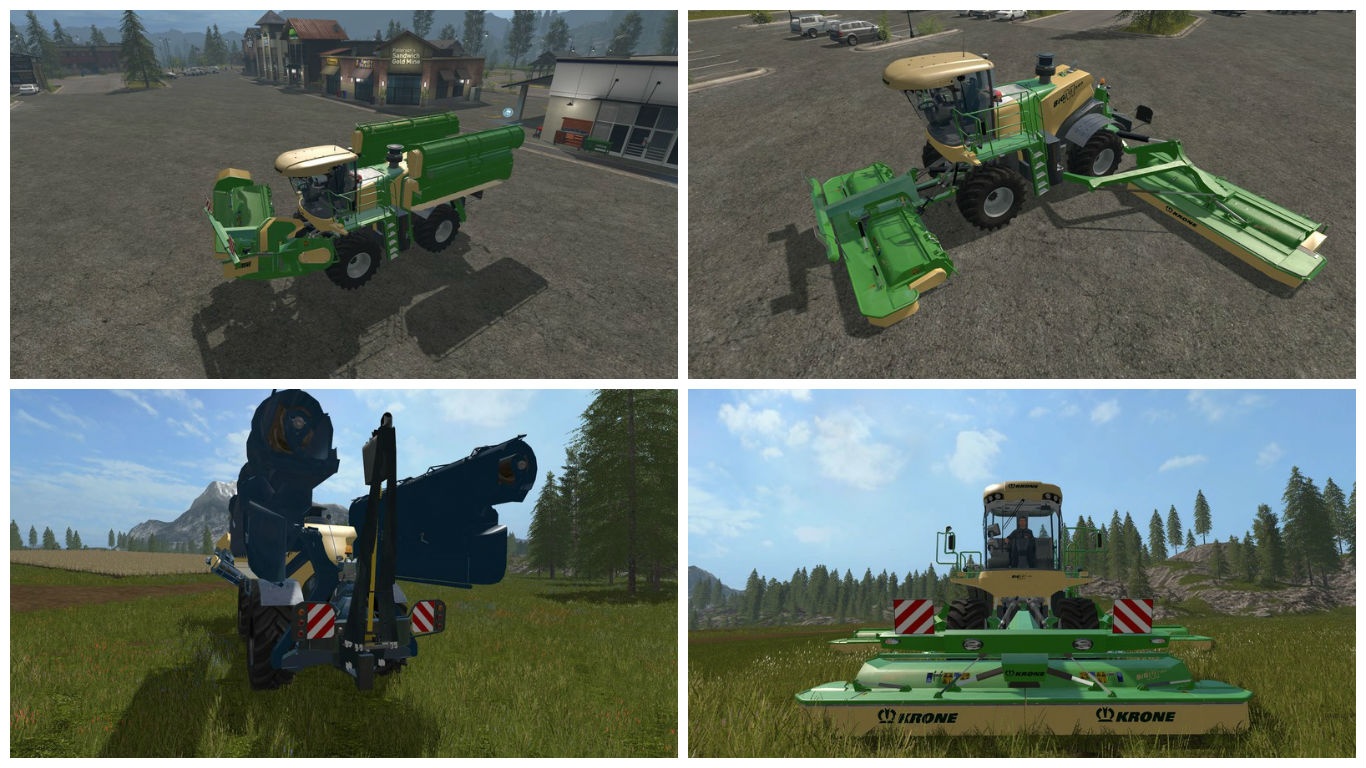 Мод Krone GTX BiG M v 1.0.10 Farming Simulator 17