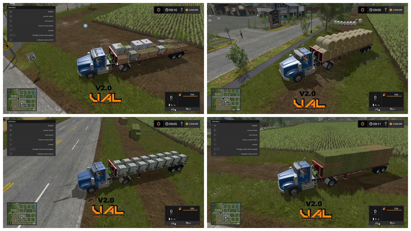 Мод прицеп US TRAILER WITH AUTOLOAD FEATURE V2.0 Farming Simulator 17