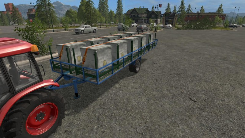 Мод transport trailer bales, pallets and wood V 0,5 beta Farming Simulator 17