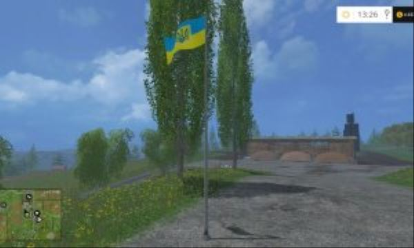 Мод Ukrainian flag v 1.0 Placeable Farming Simulator 2017