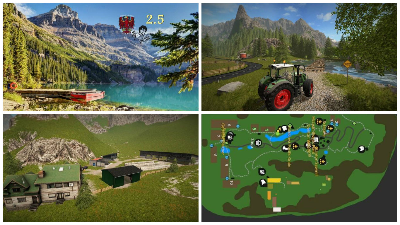 Мод карта Goldcrest Mountains V 2.5 Farming Simulator 17