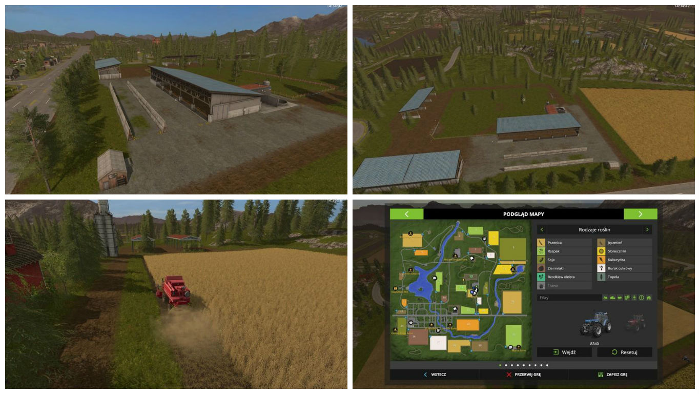 Мод карта GOLDCREST VALLEY CHOPPEDSTRAW V1.0 Farming Simulator 17