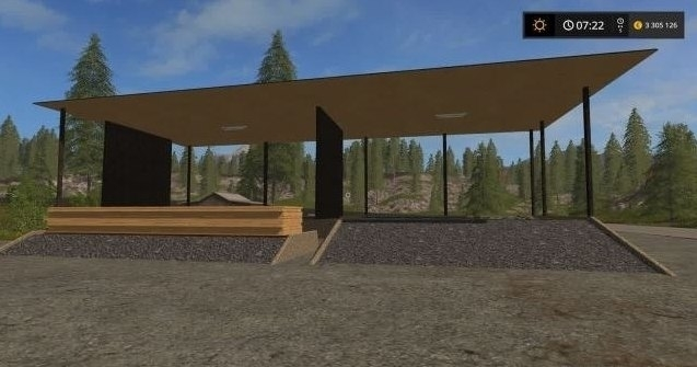 Мод Contractor Wood Sell Point v 1.0 Farming Simulator 2017
