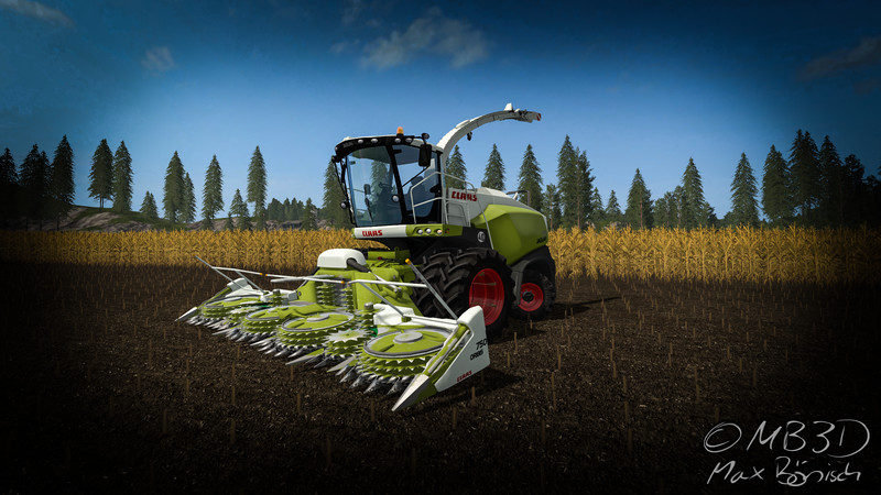 Мод комбайн Claas Jaguar 800 V 1.0 Farming Simulator 17