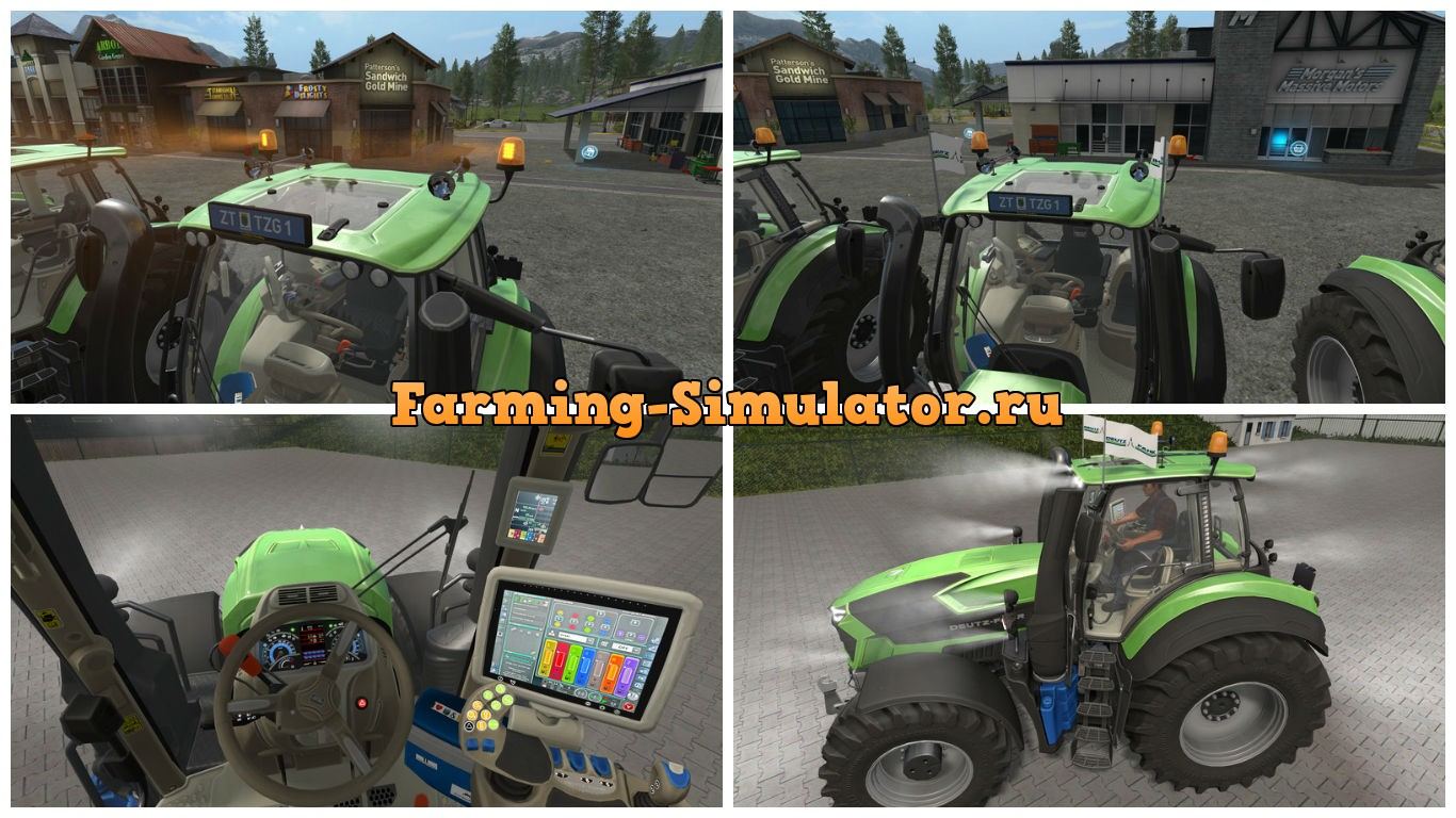 Мод трактор Deutz Fahr Series 9 v 1.5 Farming Simulator 2017