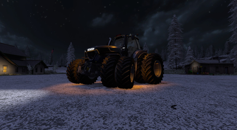 Мод трактор Deutz Fahr Series 9 v 1.5 Winter Edition Farming Simulator 2017