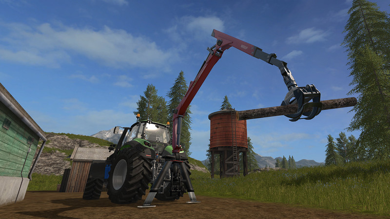 Мод Epsilon Palfinger M80F Mounted Crane for Tractors v 1.3 Farming Simulator 17