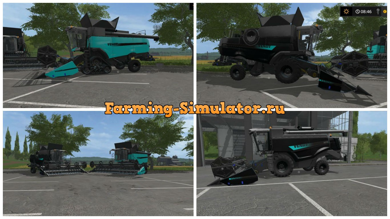 Мод комбайны Fendt Harvester Package Edit V 2.0 Farming Simulator 2017
