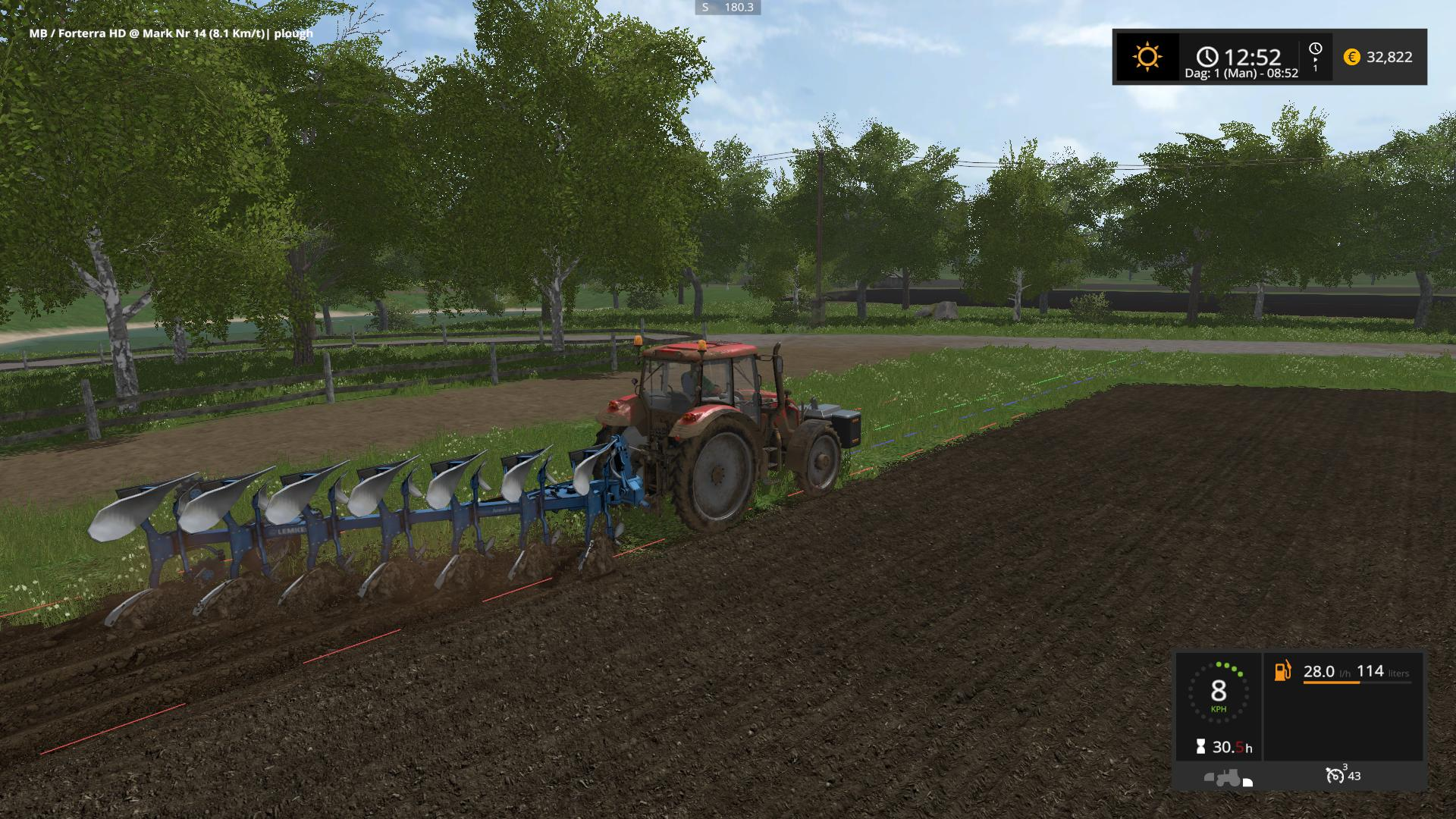 Мод плуг Lemken Juwel 8 v 0.51 BETA Farming Simulator 17