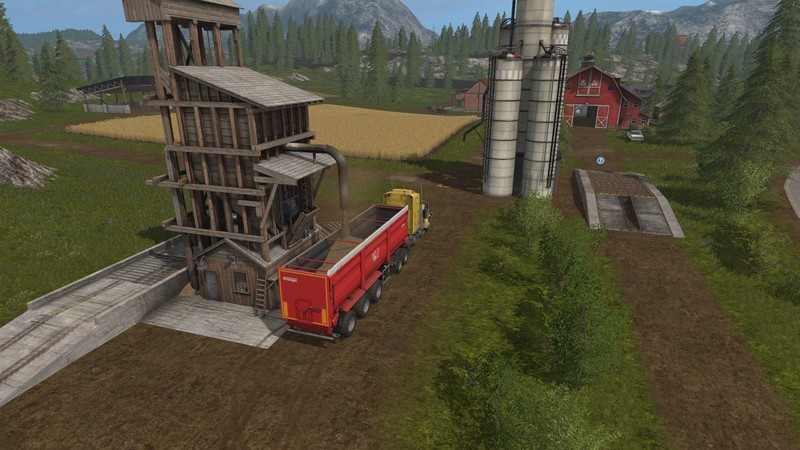 Мод Placeable WoodChip Storage v 1.1 Farming Simulator 2017