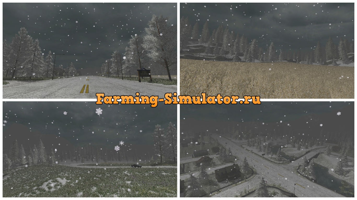 Мод Snow Edition Texture Pack v 1.0 Farming Simulator 2017