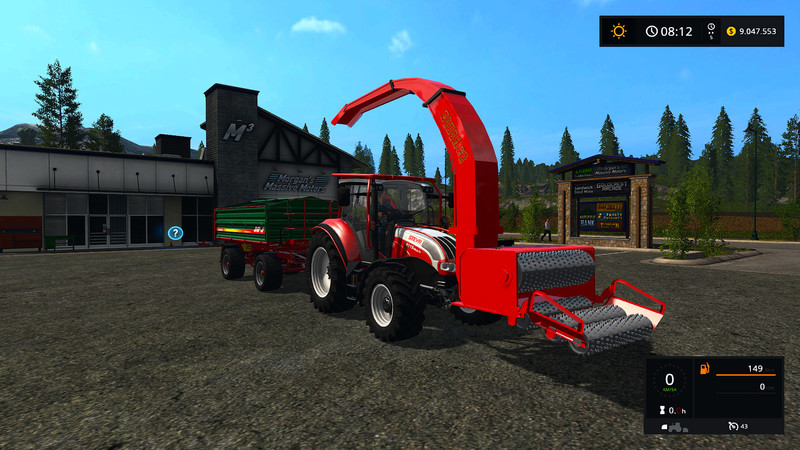 Мод щеподробилка Wood Crusher V 1.2 Farming Simulator 2017