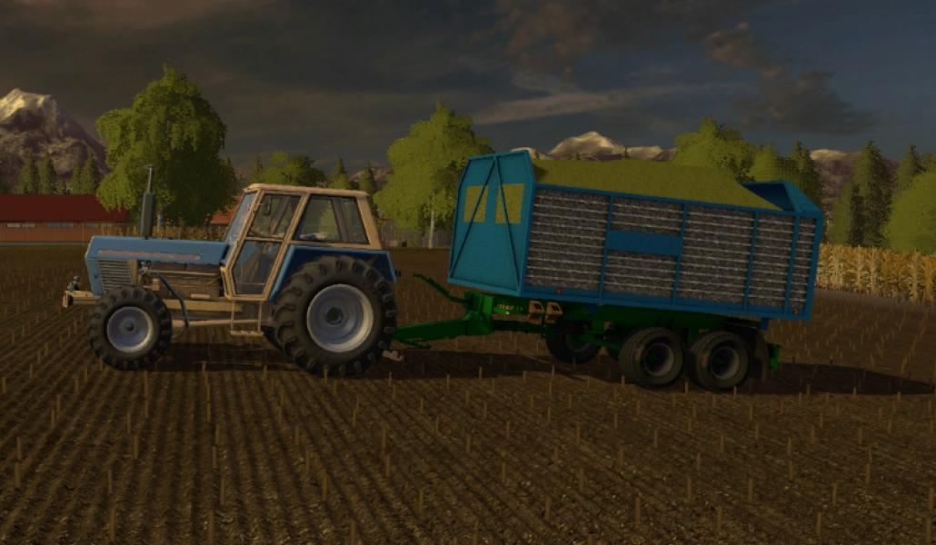 Мод прицеп ZDT SP27 Silaz Farming Simulator 17