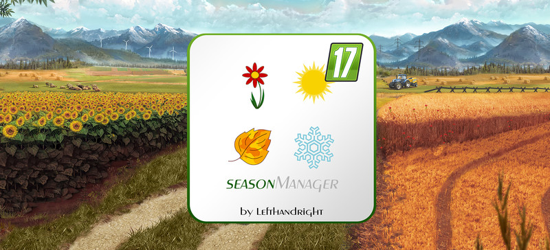 Мод скрипт SeasonManager V0.3 Farming Simulator 17