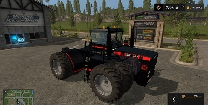 Мод трактор BIG BUD 747 Black v 1.1 Farming Simulator 17