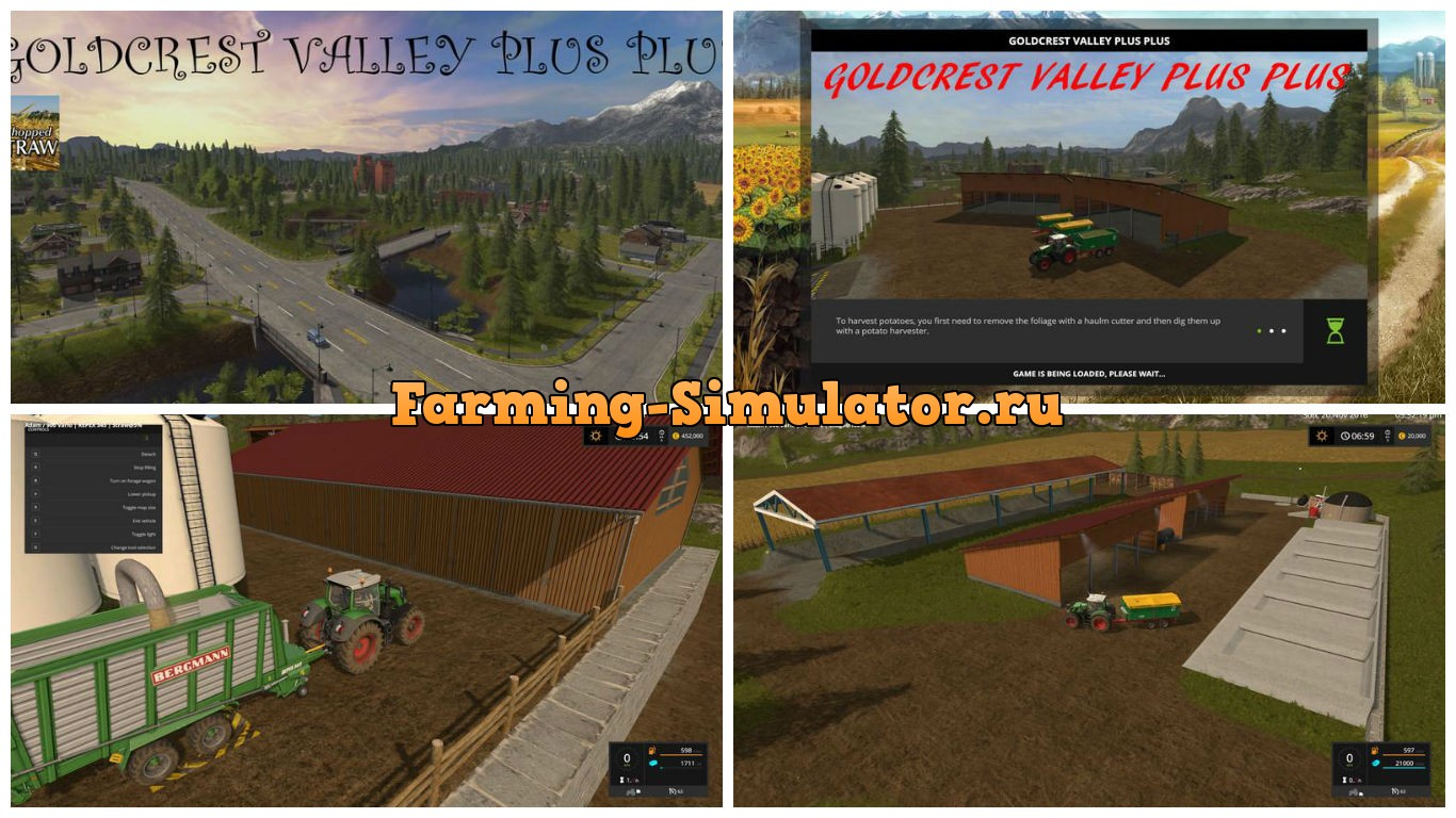 Мод карта Goldcrest valley plus plus V 1.9 Farming Simulator 2017