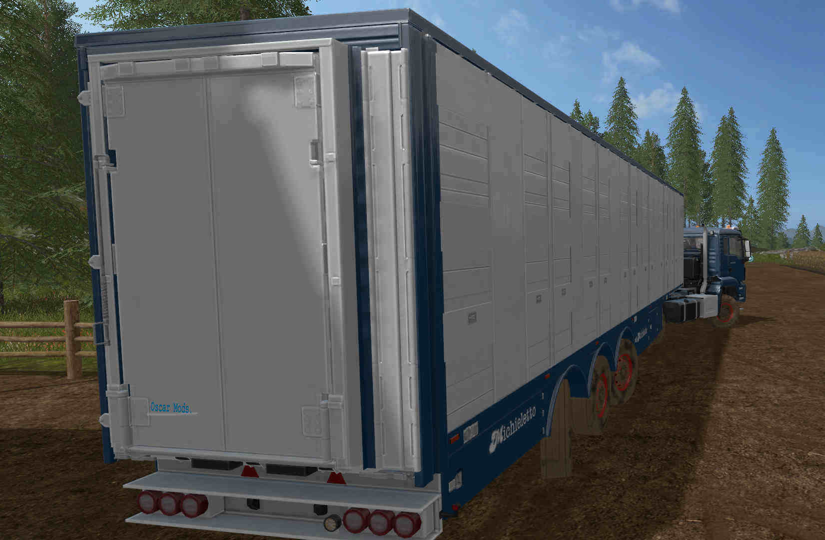 Мод прицеп Michieletto AM19 Livestock Trailer v 1.0 Farming Simulator 17