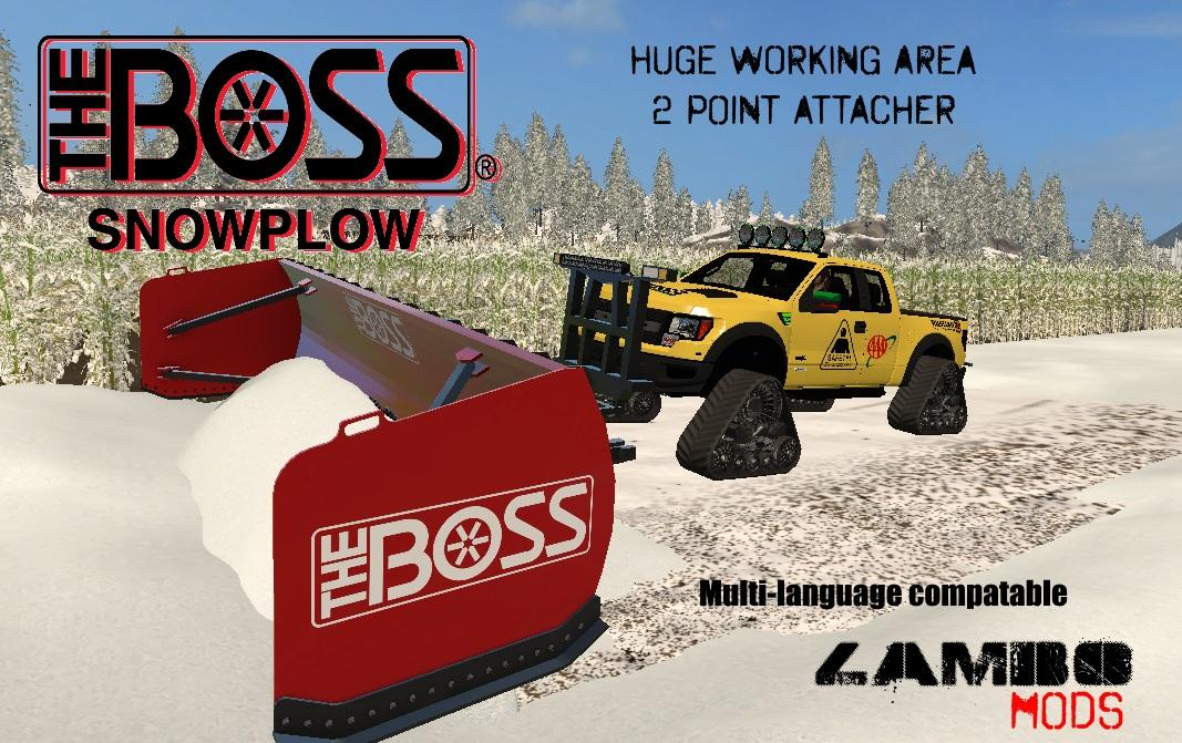 Мод Boss Box Plow v1.0 Farming Simulator 2017