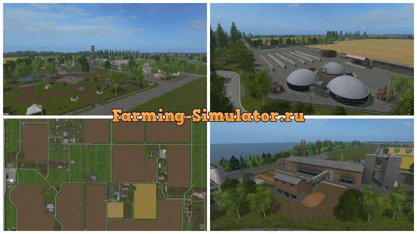 Мод карта Frisian march v1.8 Industrie Farming Simulator 17
