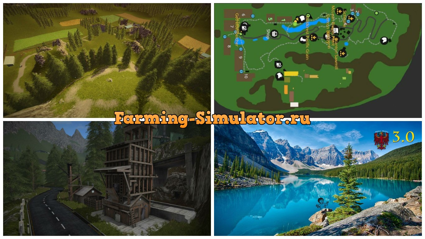 Мод карта Goldcrest Mountains V 3.0 Farming Simulator 2017