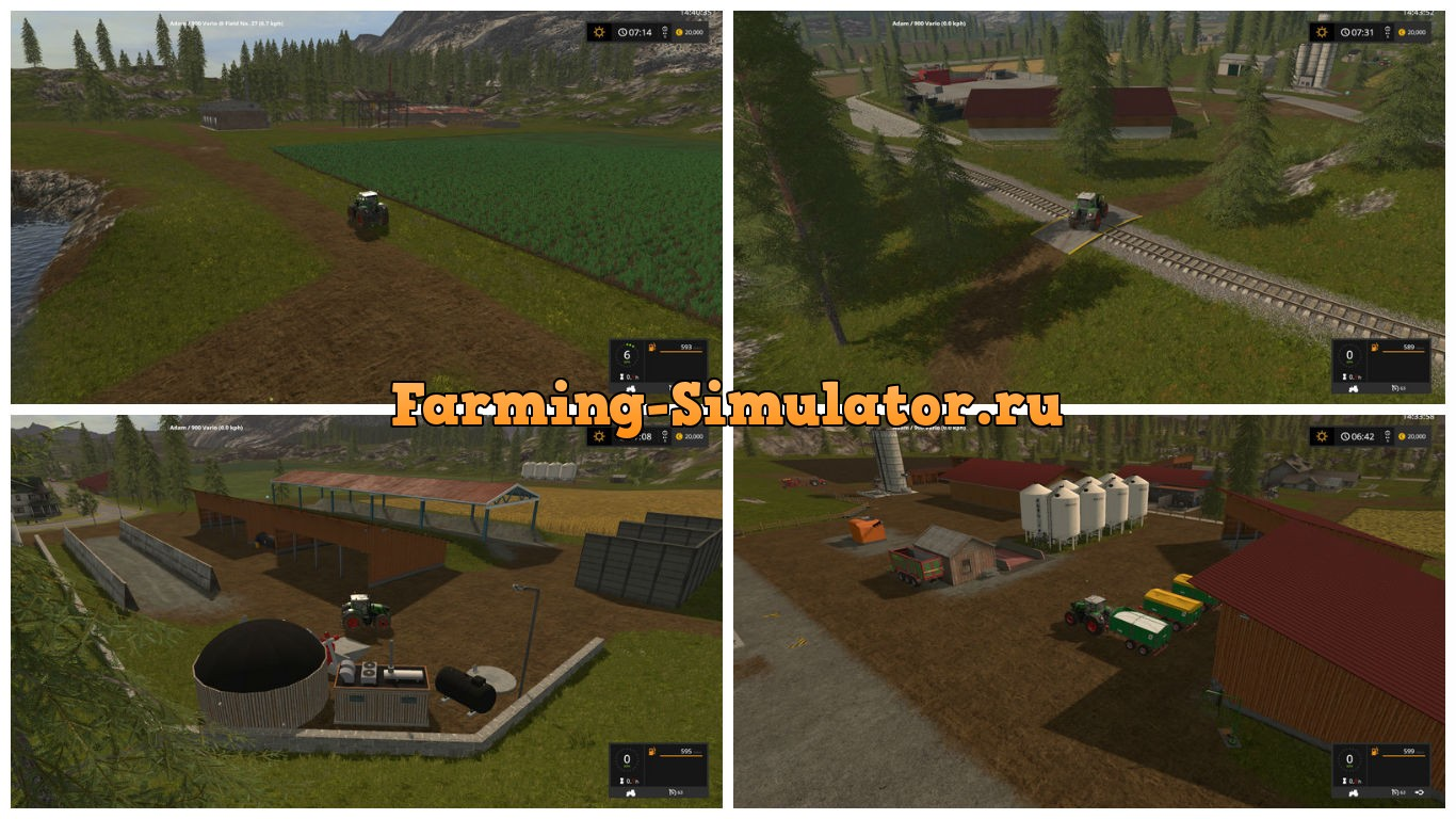 Мод карта Goldcrest valley plus plus V 2.3.1 Farming Simulator 2017