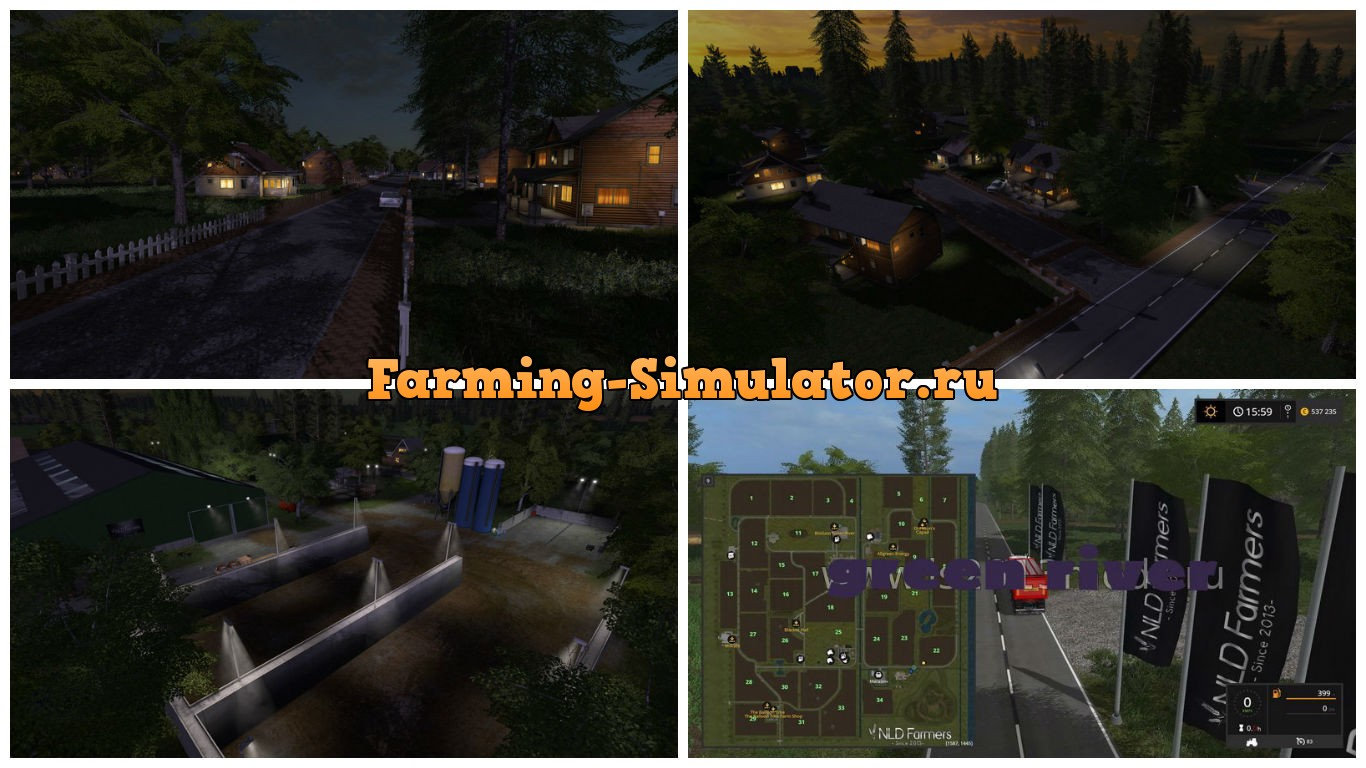 Мод карта GreenRiver-17 V 1.0 Farming Simulator 17