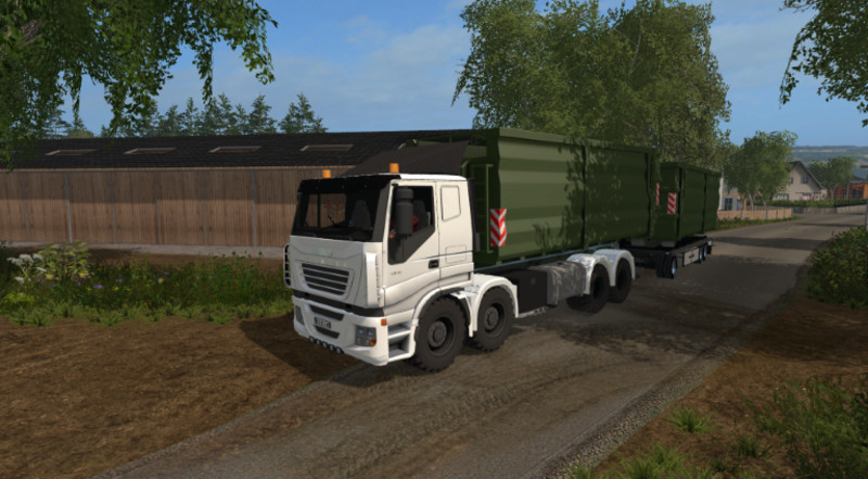 Мод грузовик Iveco Stralis 8x8 agricultural v 1.0 Farming Simulator 17