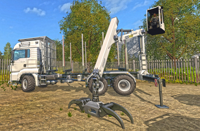 Мод MAN TGS 33.480 FORESTRY TRUCK & TRAILER V 0.9 Farming Simulator 17