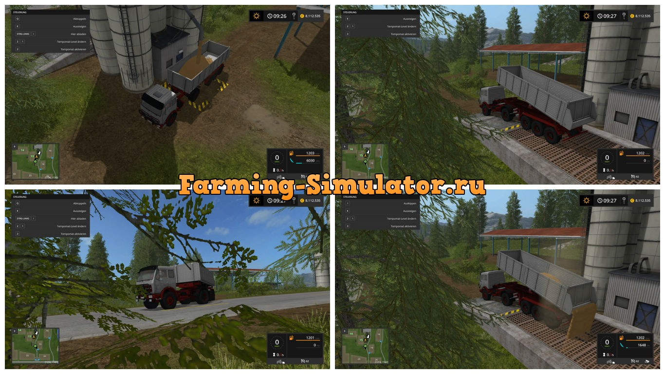 Мод грузовик Mercedes Benz NG & Tippers Trailer v 1.0 Farming Simulator 17
