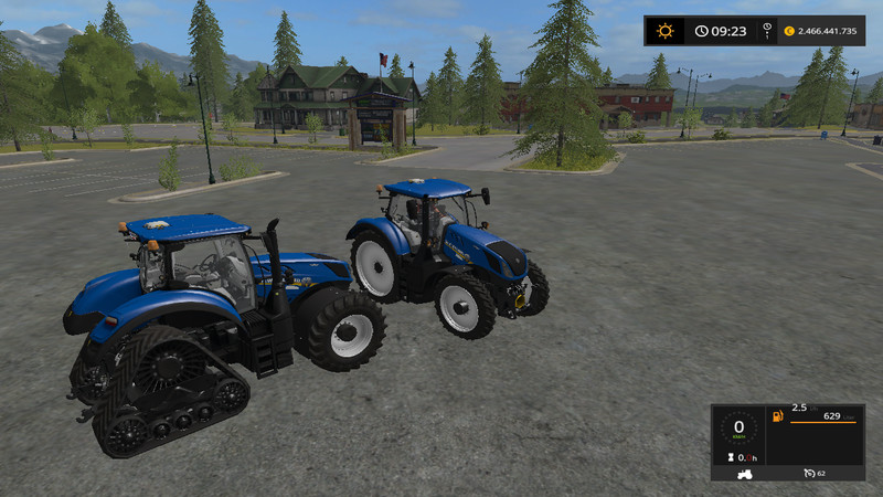 Мод трактор New Holland T7 v 1.3 Farming Simulator 2017