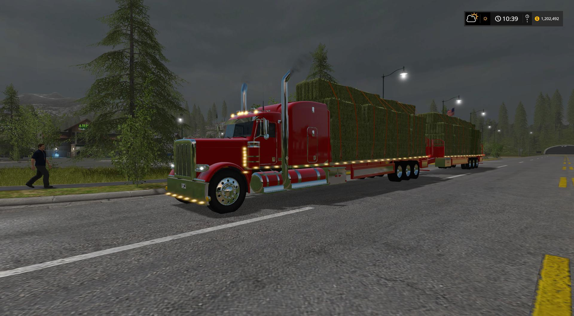 Мод грузовик PETERBILT 388 FLATBED CUSTOM v1.0 Farming Simulator 2017