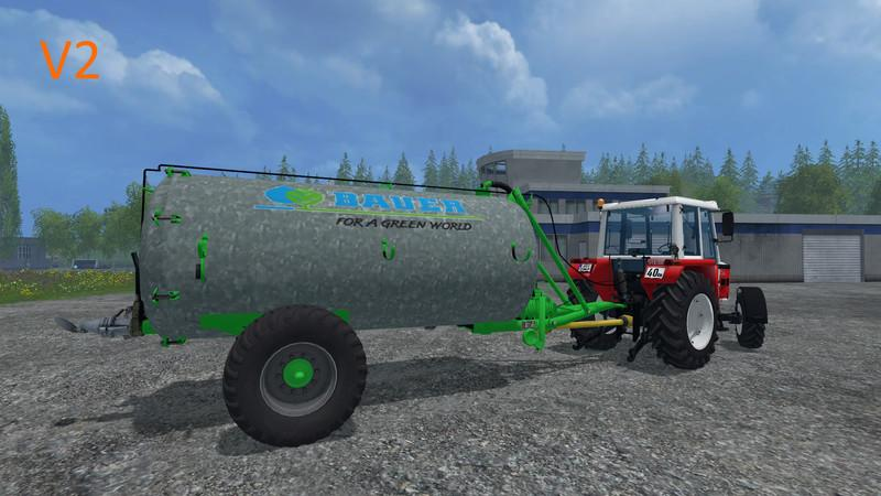 Мод бочка Bauer VB 60 Liquid manure spreader v 1.0 Farming Simulator 17