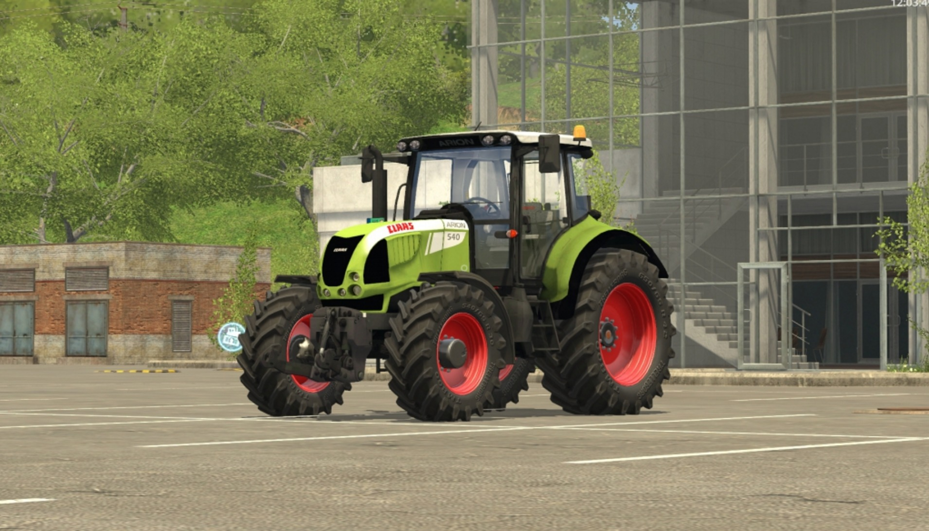 Мод трактор Claas Arion 540 v 1.0 FS 17