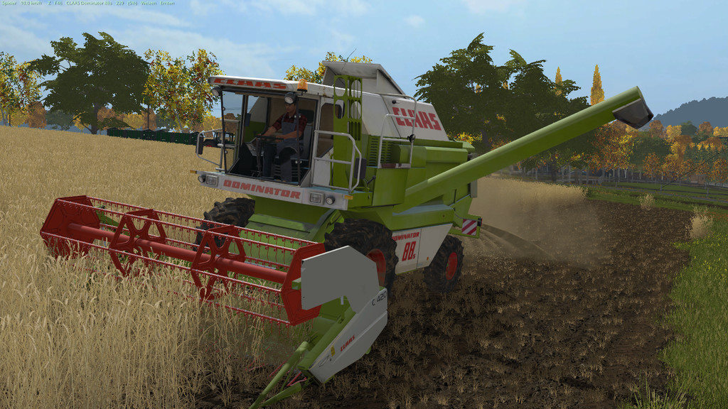 Мод комбайн Claas Dominator 88s V1.0.0.1 Farming Simulator 17