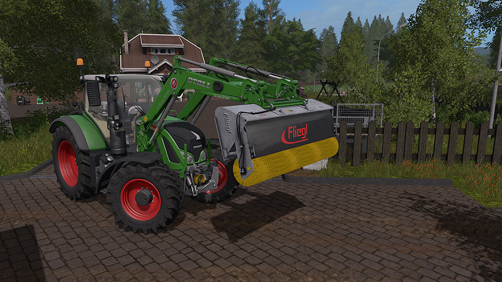 Мод щетка Fliegl PowerPro v 1.0 Farming Simulator 17