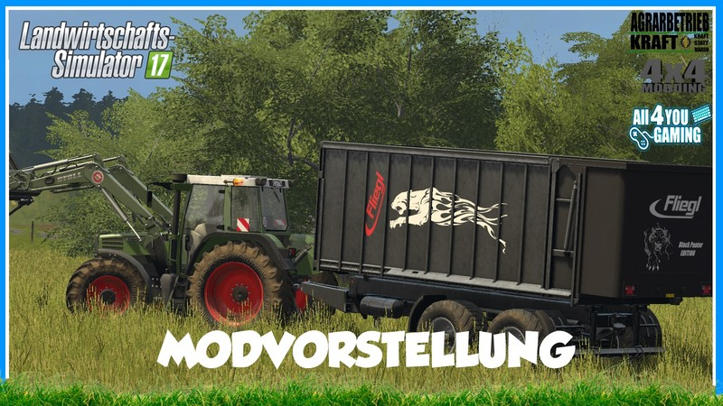 Мод прицеп Fliegl TMK 266 Black Panter v 1.0 Farming Simulator 17